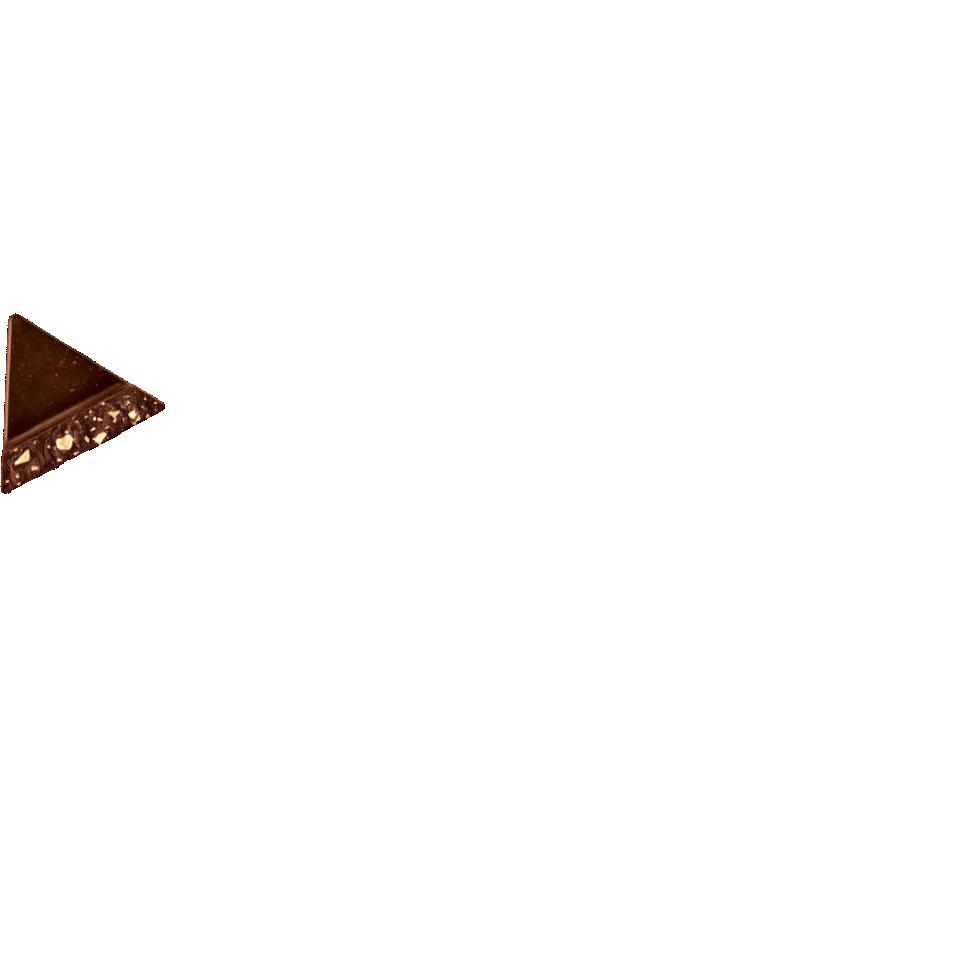 a piece of dark brown toblerone chocolate